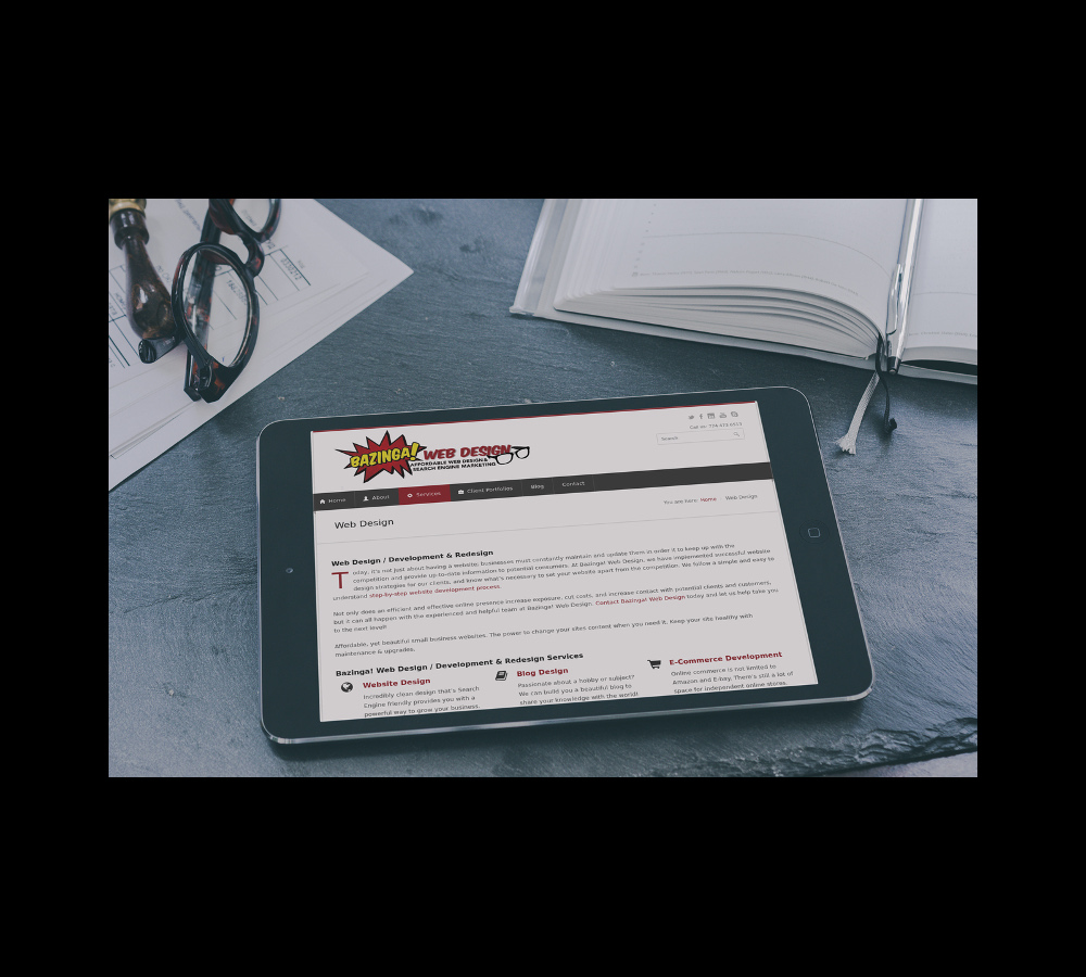 Website on MacBook and iPhone
